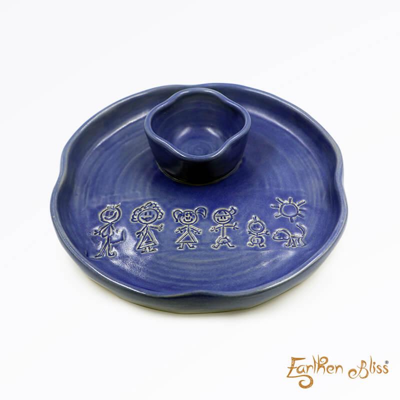 Ceramic Chip N Dips Blue